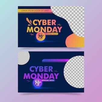 Impostare lo sfondo di vendita di cyber lunedì.