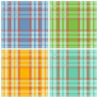 Impostare modelli di tessuto scozzese a strisce senza cuciture.