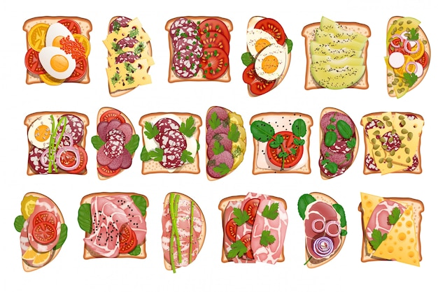 Impostare salame toast