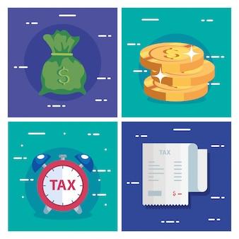 Impostare scene del giorno delle tasse e icone