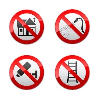 Impostare segni proibiti - casa