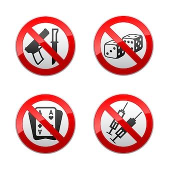Impostare segni proibiti - giochi