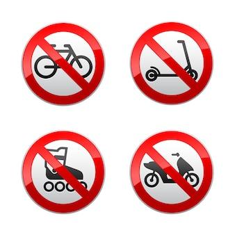 Impostare segni proibiti - sport attivi