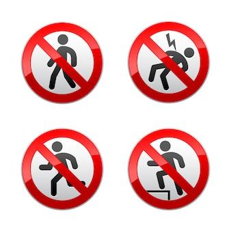 Impostare segni proibiti uomo