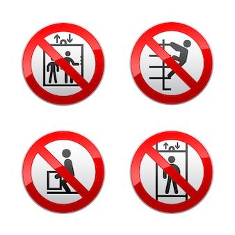 Impostare segni vietati - ascensore