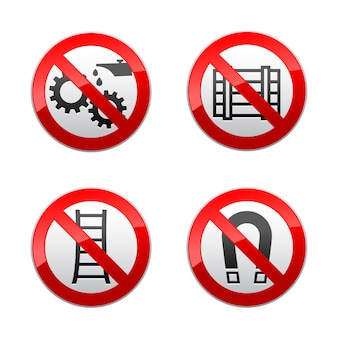 Impostare segni vietati - simboli tecnici