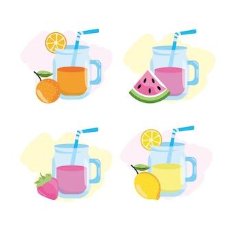 Impostare succo tropicale e limonata con frutta
