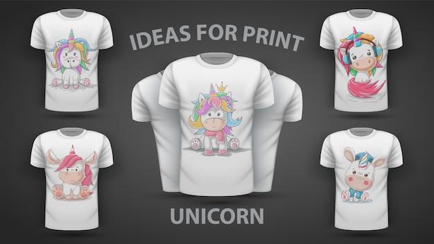 Impostare unicorno carino