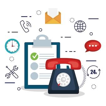 Impostazioni piatte del servizio clienti