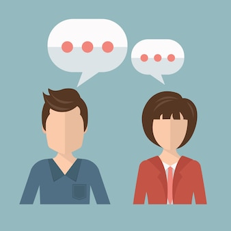 Imprenditore e imprenditrice parlando