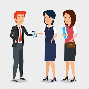 Imprenditori professionisti che lavorano insieme
