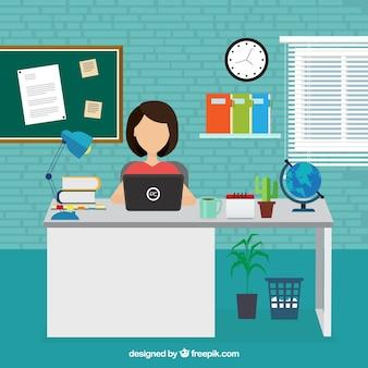 Imprenditrice di lavoro in ufficio