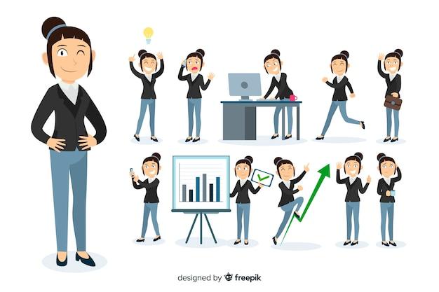 Imprenditrice facendo diverse azioni
