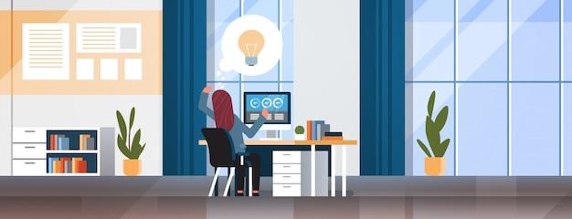 Imprenditrice generando nuova idea imprenditoriale