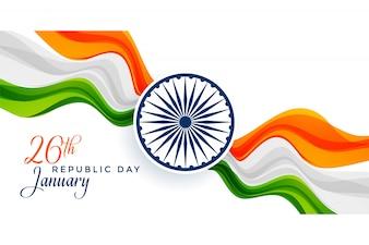 Impressionante design bandiera indiana per la felice festa della Repubblica