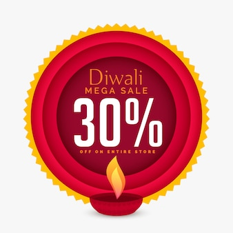 Impressionante diwali modello di banner di sconto