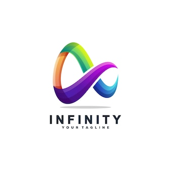 Impressionante infinity logo design vettoriale