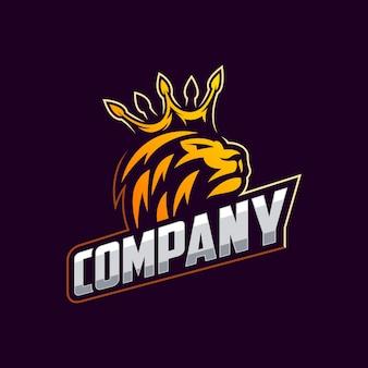Impressionante leone logo design vettoriale