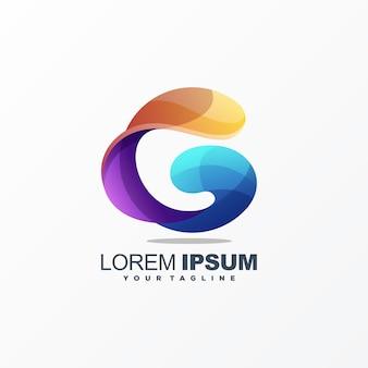 Impressionante lettera g logo design vettoriale