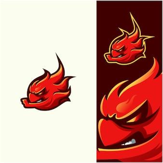 Impressionante logo fuoco illustrazione