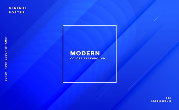Impressionante modello di progettazione moderna bandiera blu