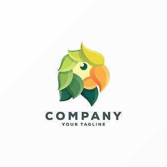 Impressionante uccello logo design vettoriale