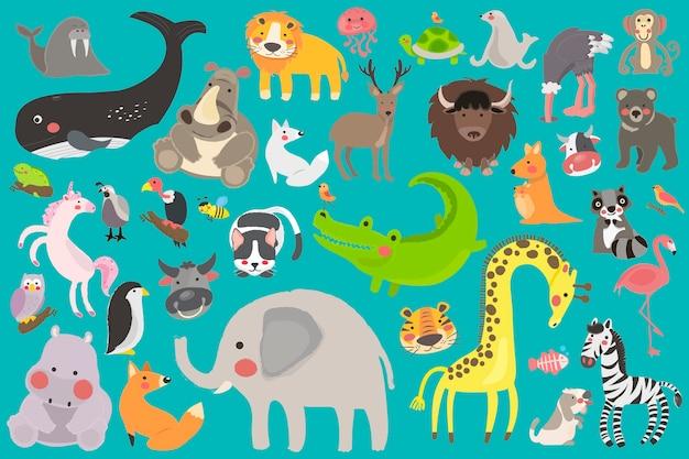 Impressionanti animali vettoriali