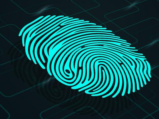 Impronta digitale su sfondo astratto