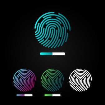 Impronta digitale vettoriale