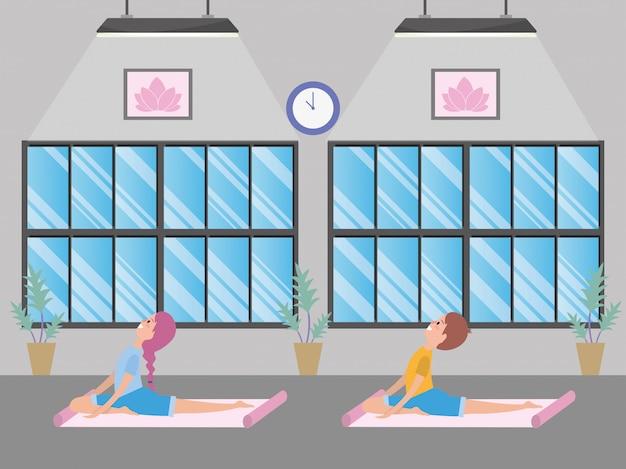 In forma coppia praticare yoga