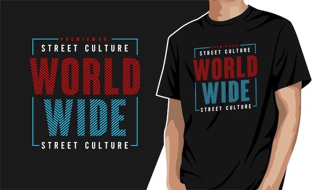 In tutto il mondo - t-shirt per la stampa