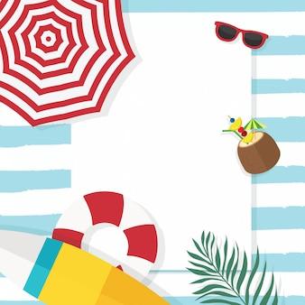 In vacanza estiva, carta vacanze estive