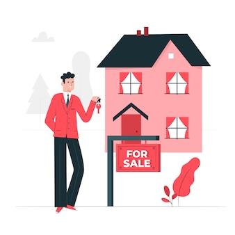 In vendita concetto illustrazione