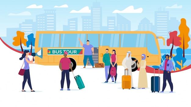 In viaggio con bus tours flat
