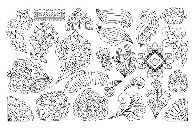 Inchiostro che disegna fiori