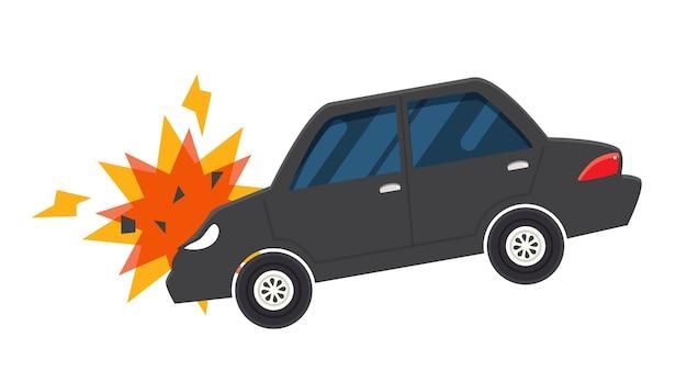 Incidente d'auto incidente illustrazione vettoriale