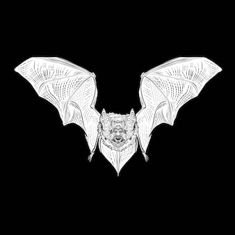 Incisione di disegno del pipistrello