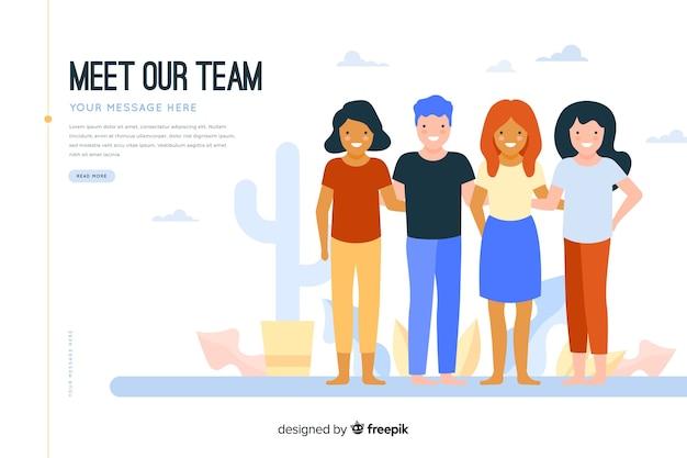 Incontra il nostro concetto di squadra per la pagina di destinazione
