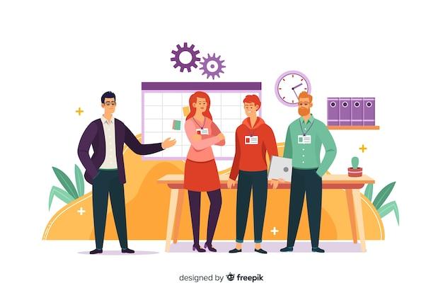 Incontra il nostro concetto di team per la landing page
