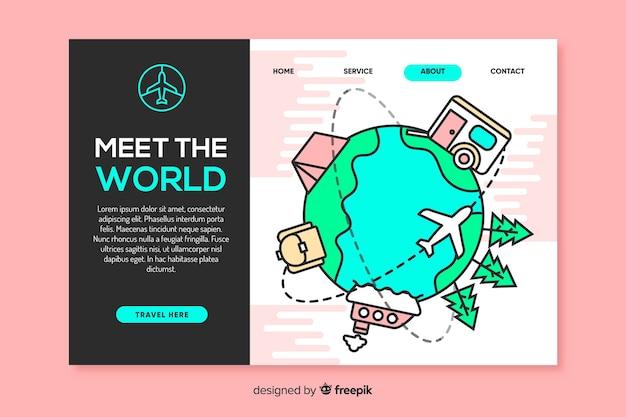 Incontra la landing page dei viaggi nel mondo