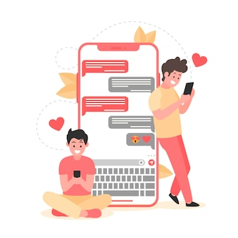 Incontri il concetto di app con gli uomini