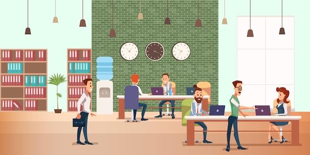 Incontro d'affari presso l'ufficio creativo. dispositivo moderno