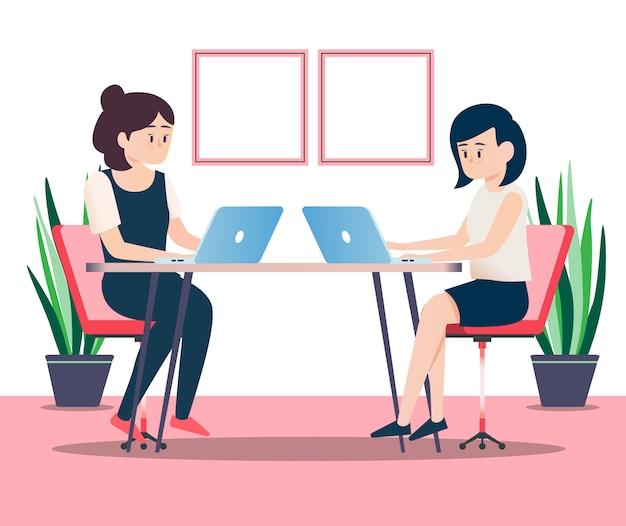 Incontro di donne d'affari