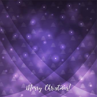Incredibile decorazione natalizia in viola
