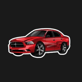 Incredibile illustrazione auto rossa