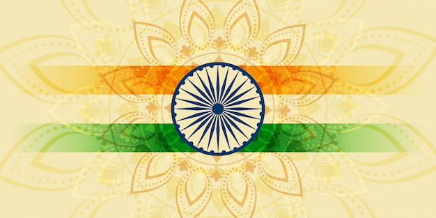 Indiano felice festa dell'indipendenza vacanza banner
