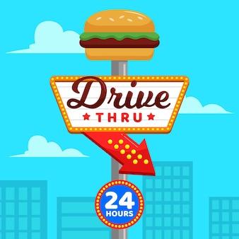 Indicatore drive thru