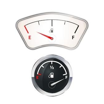 Indicatori di carburante vecchi e moderni