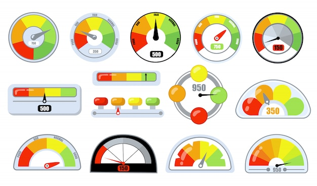 Indicatori di soddisfazione del cliente con livelli bassi e buoni