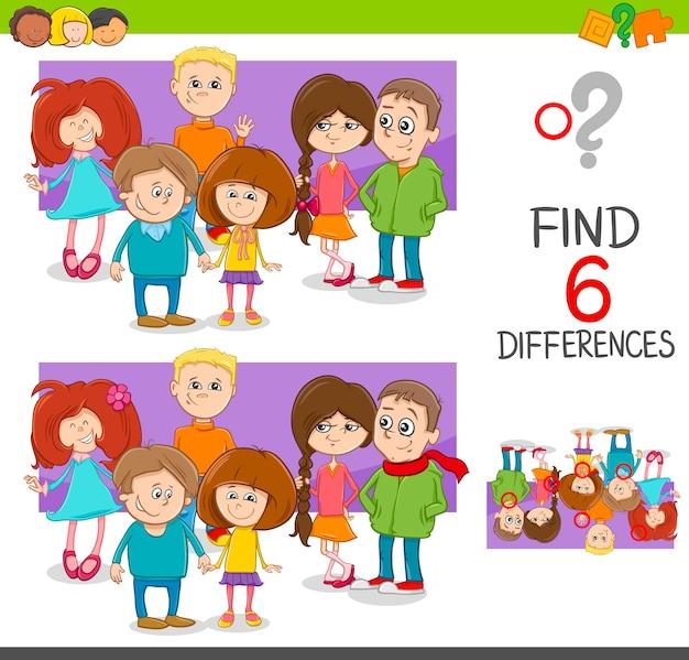 Individuare il gioco delle differenze con i bambini